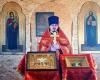 Первое богослужение в храме Новомучеников и исповедников Церкви Русской